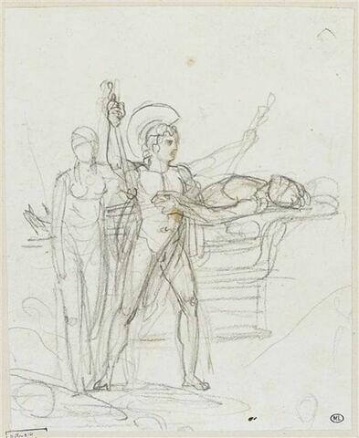 Achille et une autre figure près du cadavre de Patrocle