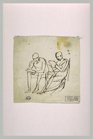 Croquis de deux personnages assis