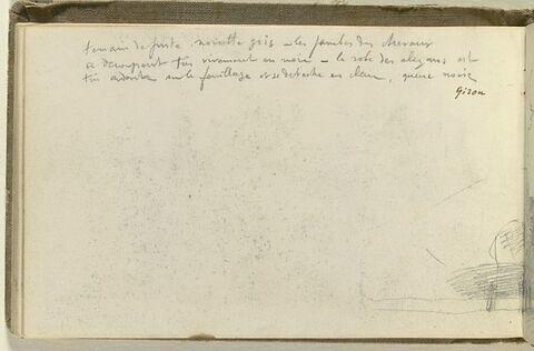 Annotations manuscrites ; croquis