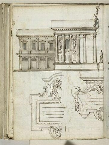 Architecture et cartouches sculptés
