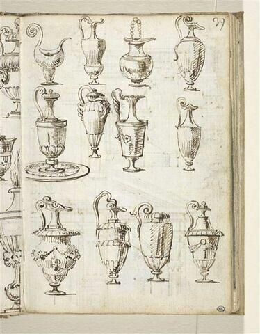 Feuille d'études de vases