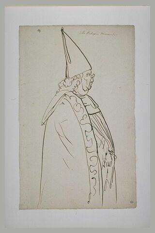 L'archevêque Menander, de profil vers la droite