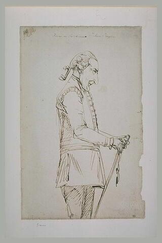 Portrait de Jochem Junggrem, de profil vers la droite