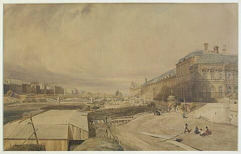 Vue du Louvre et du Pont des Arts