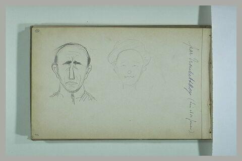 Caricatures : tête d'homme et tête de femme