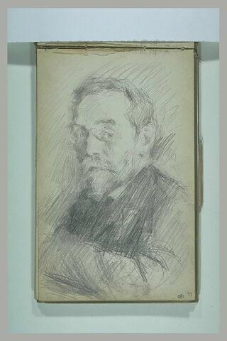 Portrait  d'Isaac Iakovlevitch Pavlovsky, avec un lorgnon