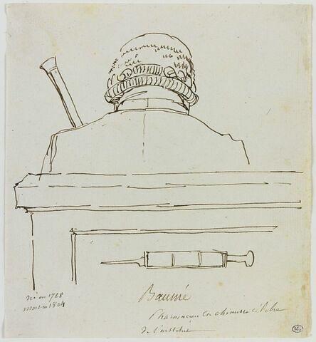 Caricature du pharmacien et chimiste Antoine Baumé