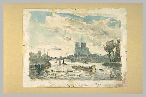 Vue de la Seine et de Notre-Dame