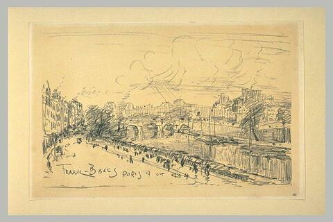 Vue du Pont-Neuf avec les bâtiments du Louvre