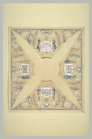 Etude pour un plafond à quatre compartiments