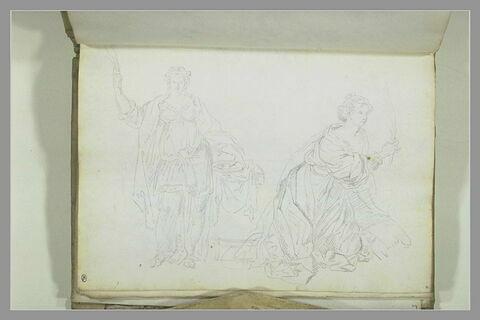 Sainte Catherine d'Alexandrie, et sainte Lucie