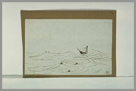 Bateau sur une mer démontée