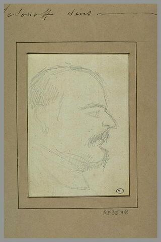 Tête d'homme avec petite moustache