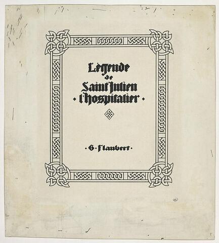 Frontispice pour la 'Légende de saint Julien l'Hospitalier'