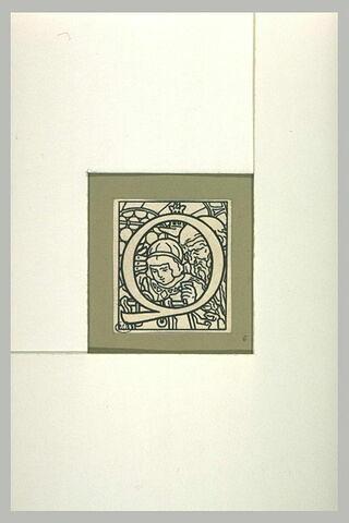 Lettrine ornée pour la 'Légende de saint Julien l'Hospitalier' : 'Q'