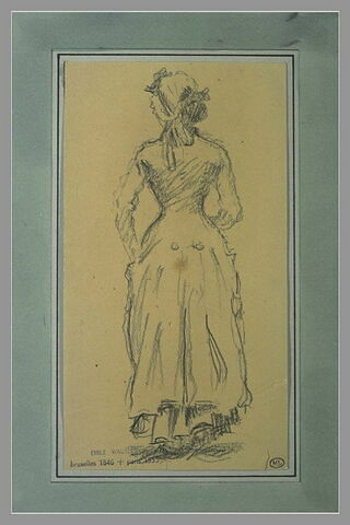 Femme debout, vue de dos