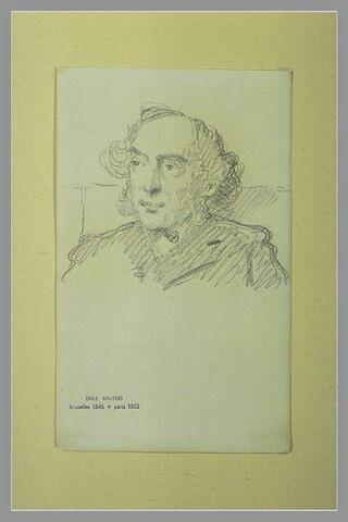Portrait d'homme, en buste, avec des favoris