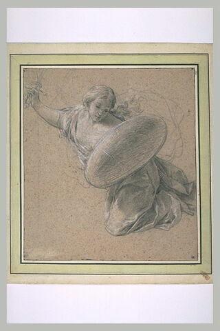 Figure volante, armée d'un glaive et d'un bouclier : la Force