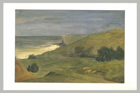 Paysage de falaises dominant la mer