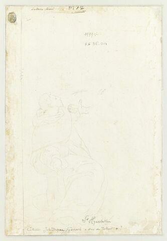 Saint Thomas d'Aquin, à genoux