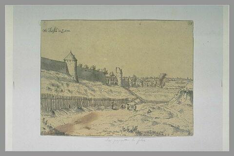 Vue des remparts de Bruxelles