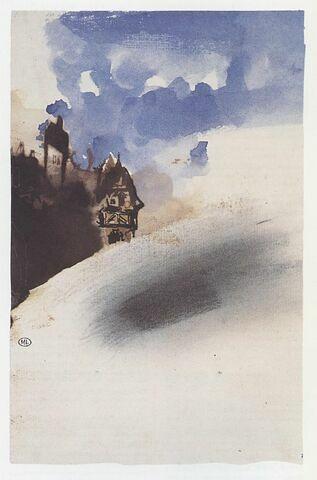 Façade de burg rhénan sous le ciel bleu