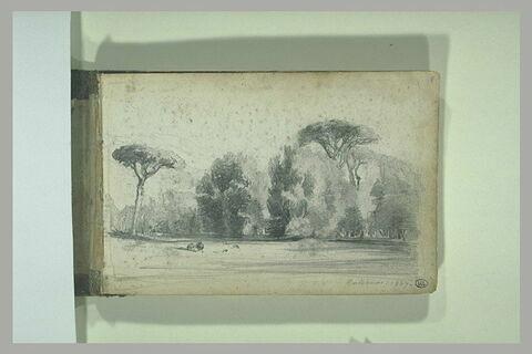 Vue d'un parc à Cascines, 1847