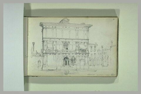 Vue d'un palais à Venise