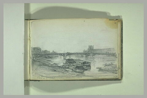 Le pont des Arts et le Louvre, à Paris