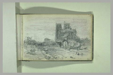 Vue du chevet de Notre-Dame de Paris
