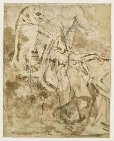 Fragment d'académie d'homme nu