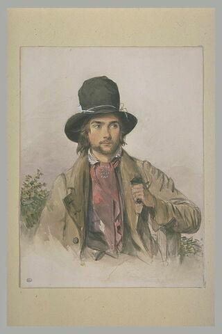 Portrait de jeune homme, en buste