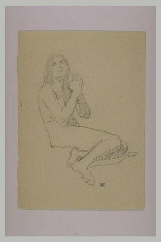 Etude de femme nue, les mains jointes : la Madeleine