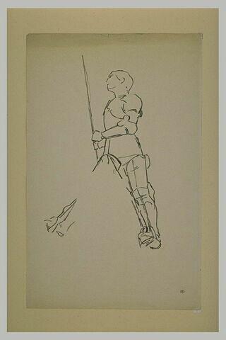 Statue équestre : Jeanne d'Arc, debout sur ses étriers