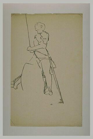 Statue équestre : Jeanne d'Arc, debout sur les étriers