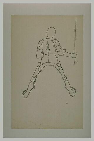 Statue équestre : Jeanne d'Arc tenant une lance