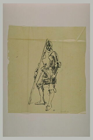 Soldat en armure du Moyen-Age
