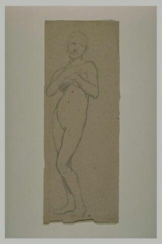 Etude pour Eve, debout, mains croisées sur la poitrine