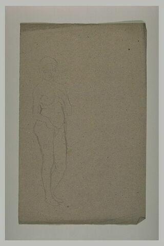 Etude pour Eve, de face, main gauche sur le sein