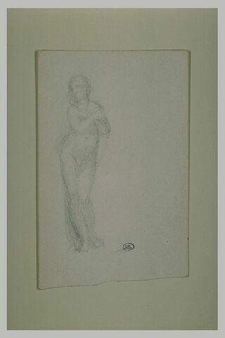 Etude pour Eve, de face, mains croisées sur la poitrine