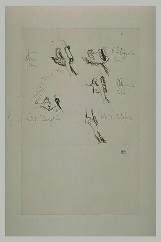 Croquis de détails d'armures (jambières)