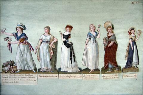 Six études de costumes révolutionnaires