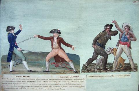 Duel de Charles Lamotte et du marquis de Castries