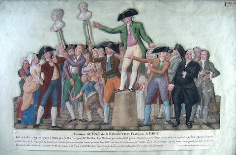Première scène de la Révolution française à Paris