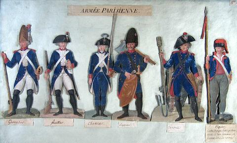 Etudes de costumes militaires