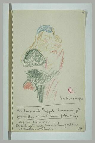 Femme et enfant, d'après 'La vendange' de Benozzo Gozzoli