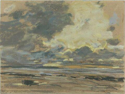 Soleil couchant, ou ciel d'orage