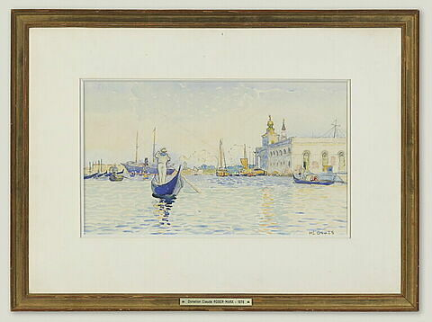 Venise, la Dogana vue du grand canal