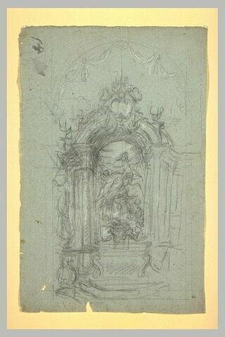 Projet d'autel, avec au centre, une Assomption