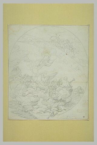 Apollon et les Muses entourant Pégase